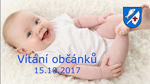 Vítání občánků 15.10.2017