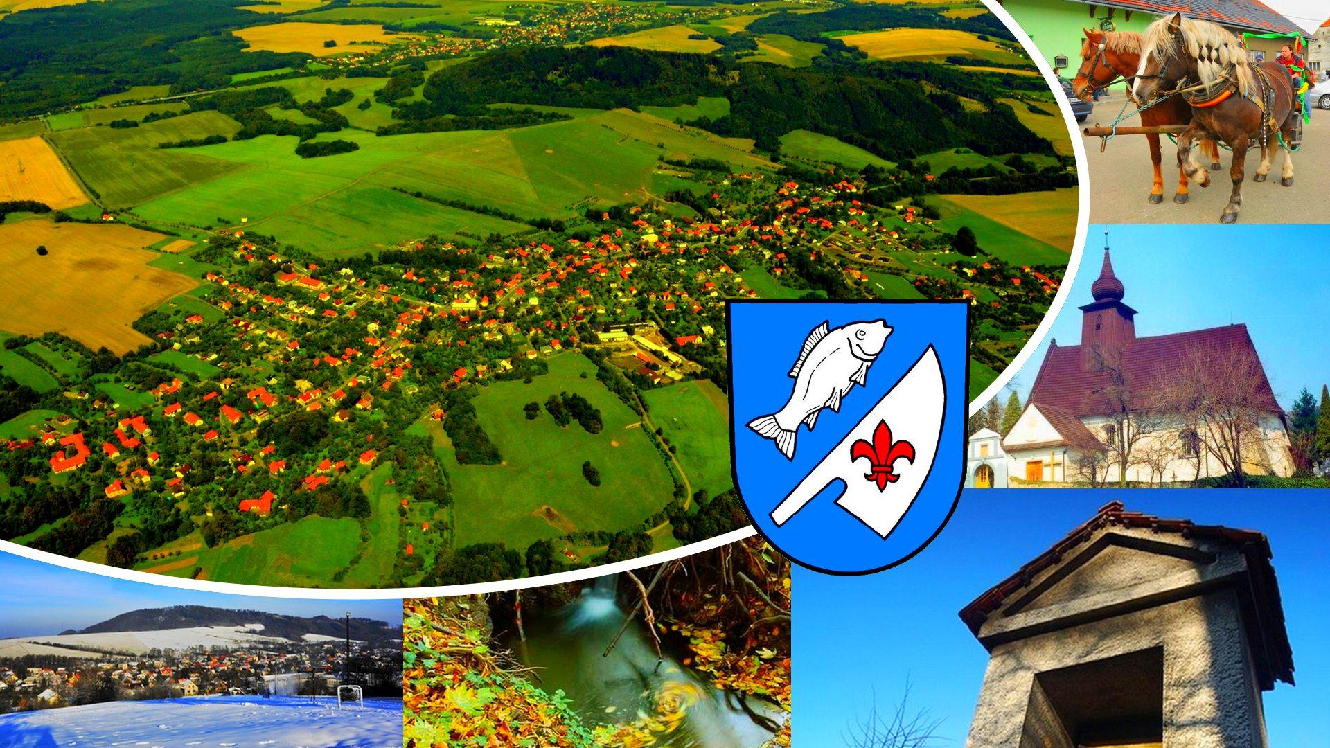Obec Rybí - Pohlednice obce Rybí