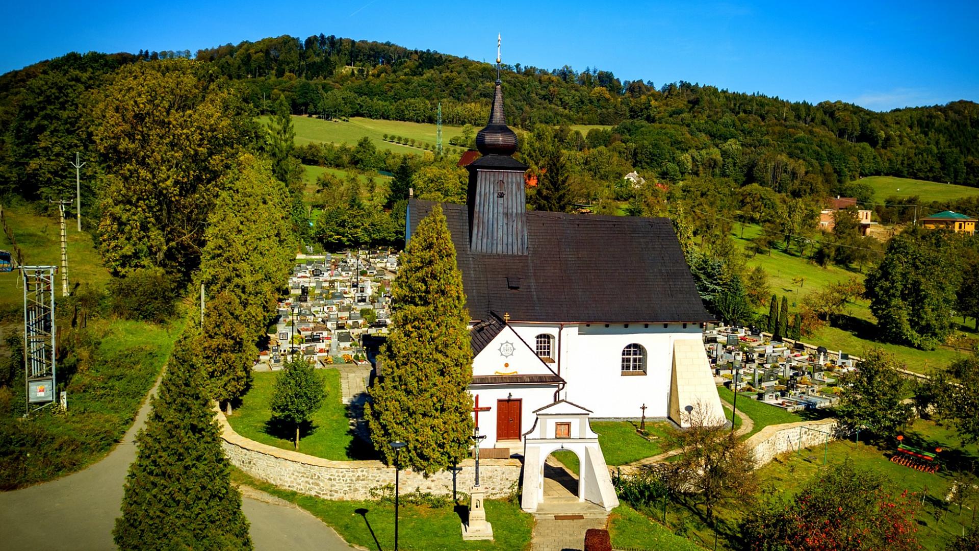 Archiv obce Rybí - Kostel Nalezení svatého Kříže v obci Rybí