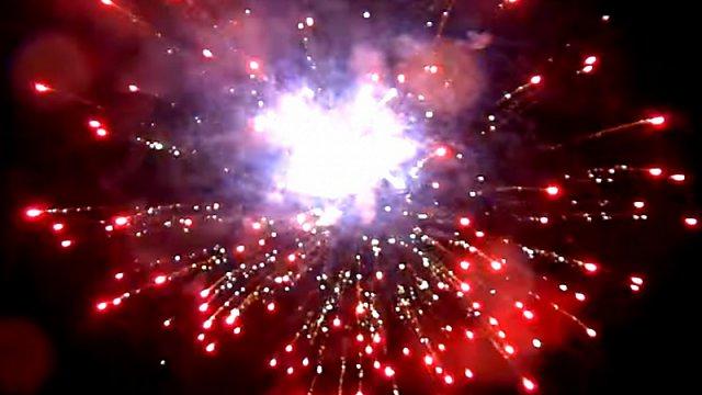 Vítání nového roku 2015 v obci Rybí