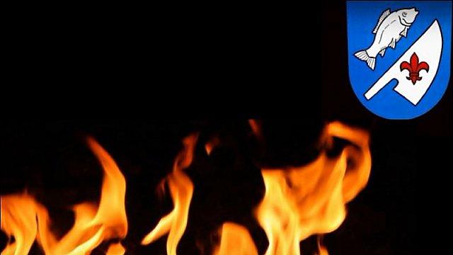 Spáleniště 2015 na kravíně v obci Rybí