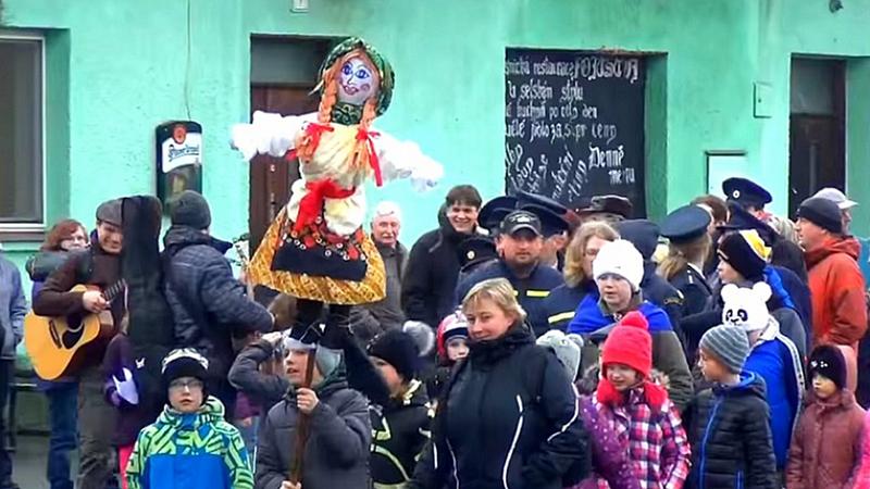 Obec Rybí - Vynášení zimy v obci Rybí 13.3.2016